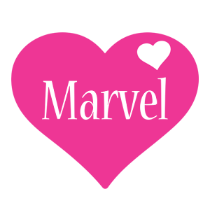 Marvel love-heart logo
