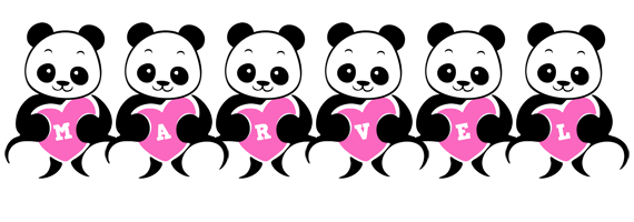 Marvel love-panda logo