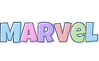 Marvel pastel logo