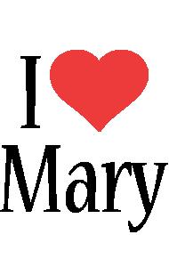 Mary i-love logo