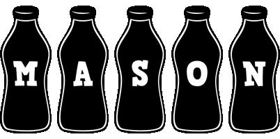 Mason bottle logo