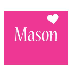 Mason love-heart logo