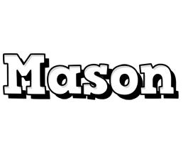 Mason snowing logo