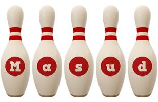 Masud bowling-pin logo