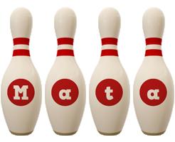Mata bowling-pin logo