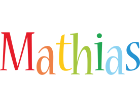 Mathias birthday logo
