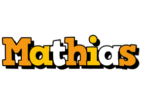 Mathias cartoon logo