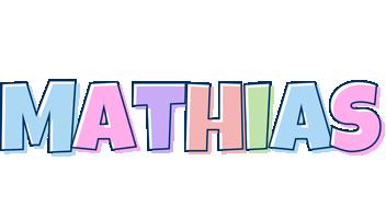 Mathias pastel logo