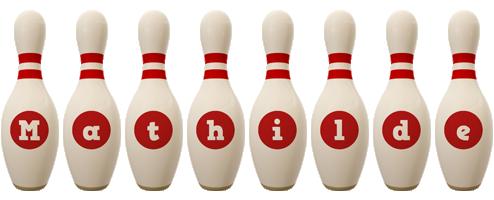 Mathilde bowling-pin logo