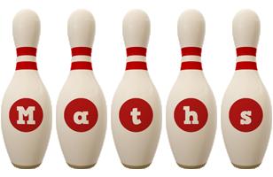 Maths bowling-pin logo