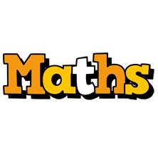 Maths cartoon logo