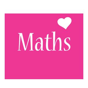 Maths love-heart logo