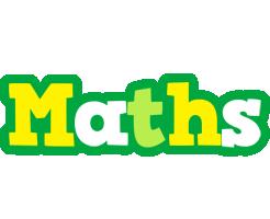 Maths soccer logo