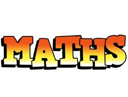 Maths sunset logo