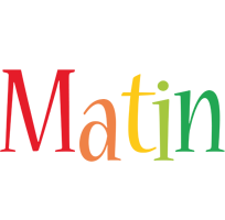 Matin birthday logo