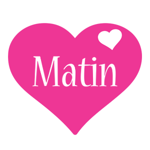Matin love-heart logo