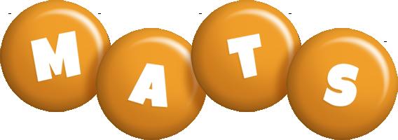 Mats candy-orange logo