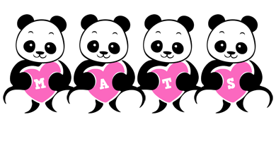 Mats love-panda logo