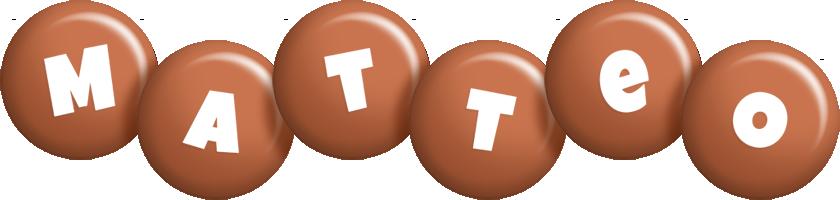 Matteo candy-brown logo