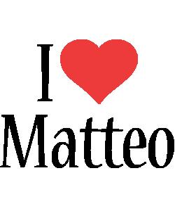 Matteo i-love logo