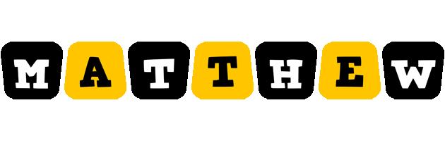 Matthew boots logo