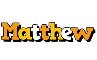 Matthew cartoon logo
