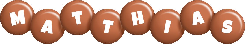 Matthias candy-brown logo