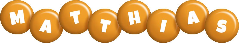 Matthias candy-orange logo