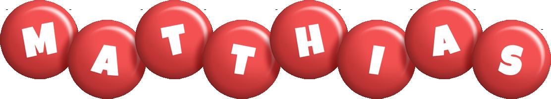 Matthias candy-red logo