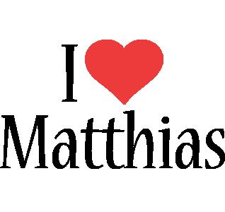 Matthias i-love logo