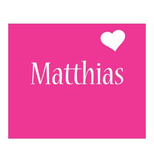 Matthias love-heart logo