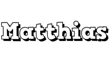 Matthias snowing logo