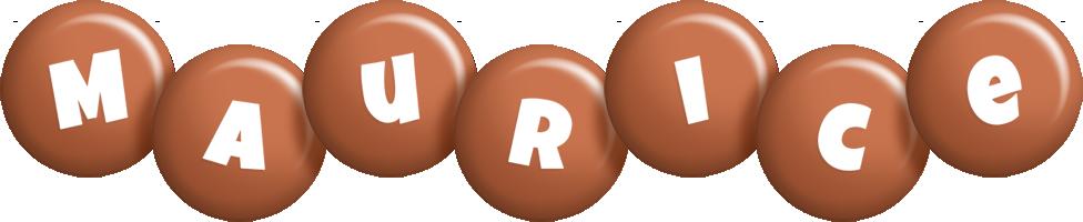 Maurice candy-brown logo