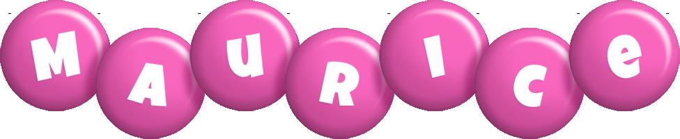 Maurice candy-pink logo