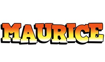 Maurice sunset logo