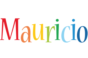 Mauricio birthday logo