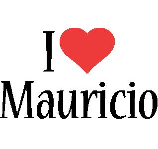 Mauricio i-love logo