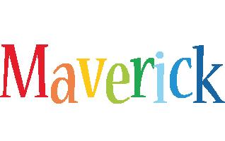Maverick birthday logo