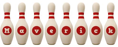 Maverick bowling-pin logo