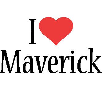 Maverick i-love logo