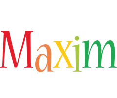 Maxim birthday logo