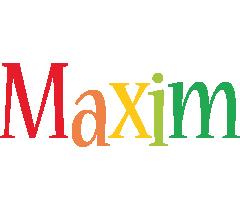 Maxim birthday logo