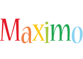 Maximo birthday logo