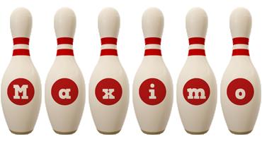 Maximo bowling-pin logo