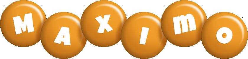 Maximo candy-orange logo