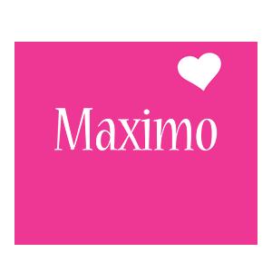 Maximo love-heart logo