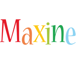 Maxine birthday logo
