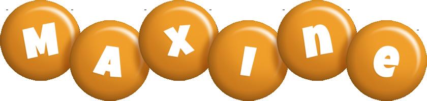 Maxine candy-orange logo