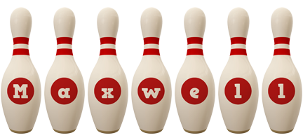 Maxwell bowling-pin logo