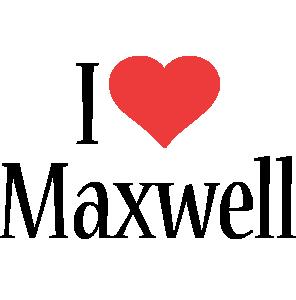 Maxwell i-love logo